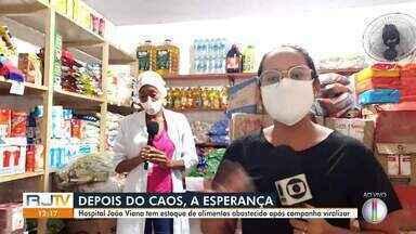 Hospital João Viana tem estoque de alimentos abastecido após campanha viralizar - Prateleiras estavam vazias mas foram reabastecidas após campanha de doação.