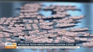Pesquisadores estudam medicamento contra câncer no tratamento da Covid-19 - Medicamento é indicado para o tratamento de pessoas com câncer de próstata e de mama. Não é vendido em farmácias. O objetivo do estudo é saber se o fármaco também é eficiente na recuperação de pessoas diagnosticadas com Covid-19.
