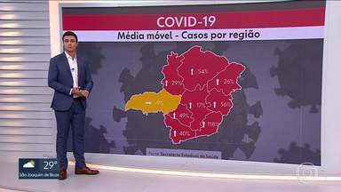 Pelo segundo dia seguido, Minas Gerais bate recorde de média móvel de mortes pela Covid-19 - Minas Gerais registrou 9.912 casos de Covid-19 e 213 mortes pela doença em 24 horas