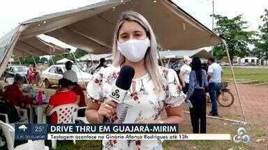 Drive-Thru em Guajará-Mirim para testagem da Covid-19 - Testagem acontece no Ginásio Afonso Rodrigues até 13h.