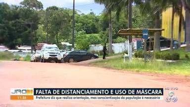 Falta de distanciamento e uso de máscara no cemitério Santo Antônio - Equipe do JRO1 flagrou desrespeito a medidas de prevenção durante sepultamento de vítimas da covid-19.
