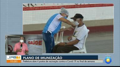 Prefeitura de João Pessoa abre 4 novos postos de vacinação contra Covid-19 - Abertura será realizada a partir deste fim de semana.