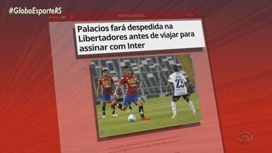 Palacios fará despedida na Libertadores antes de viajar para assinar com Inter - Atacante de 20 anos fará último jogo pelo Unión Española na próxima terça-feira, contra o Independiente Del Valle.