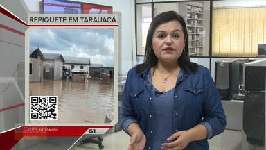 G1 no JAC1: Rio Tarauacá continua subindo e desabriga mais de 100 pessoas - G1 no JAC1: Rio Tarauacá continua subindo e desabriga mais de 100 pessoas
