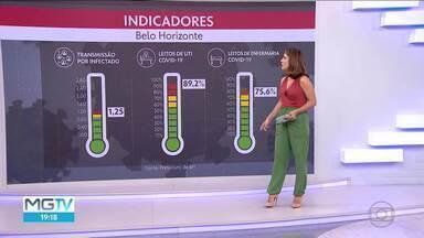 Taxa de ocupação de UTIs em BH está em 89% - Todos os indicadores estão em nível vermelho. Mais de 2.800 pessoas morreram na capital em decorrência da Covid.