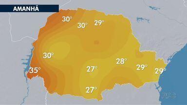 Fim de semana de calor em todo o estado - Nebulosidade pode atingir algumas regiões na parte da manhã.