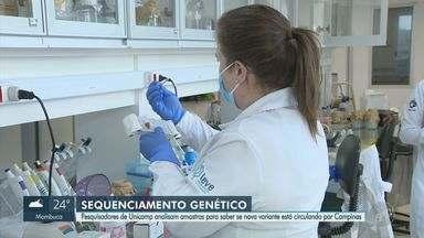 Pesquisadores da Unicamp iniciam estudos de sequenciamento das novas variantes da Covid-19 - Pedido partiu da Prefeitura de Campinas (SP), já que o Instituto Adolfo Lutz está sobrecarregado.