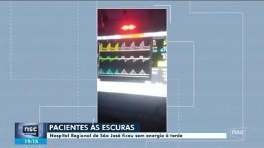 Hospital Regional de São José fica sem energia e atendimento é afetado - Hospital Regional de São José fica sem energia e atendimento é afetado