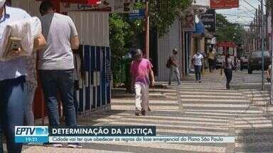 Franca tem que obedecer regras da fase emergencial do Plano SP - Decisão da Justiça impede abertura de serviços considerados não essenciais pelo governo do estado.