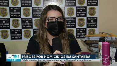 Polícia prende pessoas envolvidas em mortes no bairro Maracanã e no Lago Grande - Casos estão sendo investigados pela Delegacia de Homicídios.