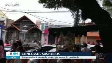 Justiça manda suspender provas de todos os concursos públicos no Pará - Quem está inscrito e já chegou ao estado para fazer provas vai ter de refazer o planejamento.