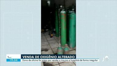 Venda de oxigênio alterado: dono de oficia é preso - Confira mais notícias em g1.globo.com/ce
