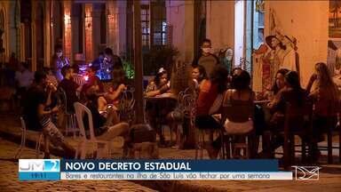 Governo do MA prorroga decreto e proíbe abertura de bares e restaurantes por uma semana - Flávio Dino também falou sobre a situação da Covid-19 no estado.