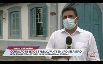 Ocupação de leitos preocupa em São Sebastião - Confira a reportagem exibida pelo Jornal Vanguarda.