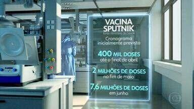Ministério da Saúde assina contrato para compra de 10 milhões de doses da russa Sputnik - O uso da vacina ainda não foi autorizado pela Anvisa. O cronograma para a entrega indica possibilidade de três remessas entre abril e junho.