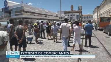Confira alguns acontecimentos que foram destaques desta sexta-feira no BATV - Comerciantes de Salvador protestaram contra as medidas restritivas na capital.