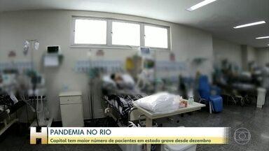 Rio tem maior número de pacientes com Covid-19 em estado grave desde dezembro - Capital e cidades do interior enfrentam colapso do sistema de saúde, com UTIs e enfermarias lotadas; vacinação segue suspensa por falta de doses no Rio e em Duque de Caxias