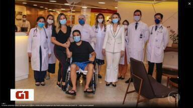 Cantor Edson tem alta depois de tratar pneumonia - Ele ficou 5 dias na UTI.