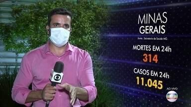 Minas Gerais bate novos recordes de casos e mortes em 24h - Começou a valer hoje à noite o toque de recolher em todo o estado