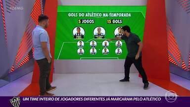Ataque ideal do Atlético pode ter Nacho, Hulk, Keno e Vargas - Ataque ideal do Atlético pode ter Nacho, Hulk, Keno e Vargas