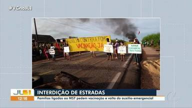 Integrantes do MST interditam rodovias no sudeste do Pará - Integrantes do MST interditam rodovias no sudeste do Pará