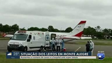 Em Monte Alegre, número de casos de Covid-19 aumenta e ocupação dos leitos está no limite - Veja como está a situação no município.