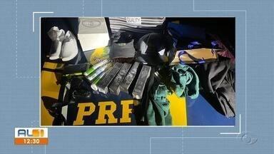 PRF prende dois homens em Alagoas por realizarem furtos em Sergipe - Prisão ocorreu durante uma abordagem na BR-101, em São Sebastião.