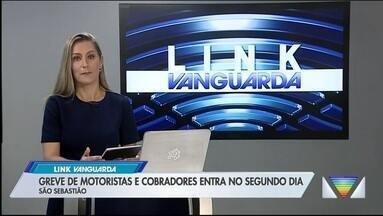 Greve de motoristas de ônibus em São Sebastião entra no segundo dia - Apenas 35% da frota está rodando.