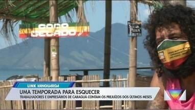 Comerciantes do litoral lamentam prejuízos no verão - Confira na reportagem.