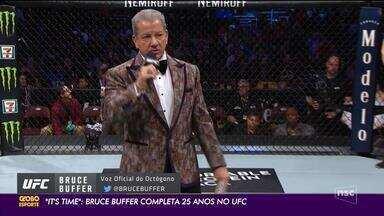"""""""It's time"""" - Bruce Buffer completa 25 anos de UFC - """"It's time"""" - Bruce Buffer completa 25 anos de UFC"""