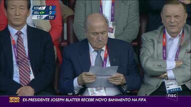 Ex-presidente Joseph Blatter recebe novo banimento na FIFA - Ex-presidente Joseph Blatter recebe novo banimento na FIFA