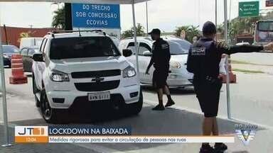 Cidades da Baixada Santista instalam barreiras para conter acesso de turistas - Região está em lockdown desde terça-feira (23) para tentar frear o contágio da Covid-19.