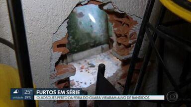 Quiosques no Guará viram alvo de bandidos - Proprietários cobram mais segurança.