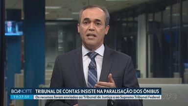 Tribunal de Contas do Estado recorre de decisão que manteve transporte em Curitiba - Segundo o TCE, 11% dos ônibus de Curitiba estão rodando com capacidade acima da permitida nos horários de pico