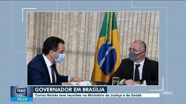 Carlos Moisés participa de reuniões no Ministério da Justiça e da Saúde em Brasília - Carlos Moisés participa de reuniões no Ministério da Justiça e da Saúde em Brasília
