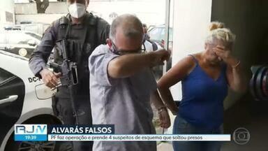 PF prende mais 4 pessoas suspeitas de integrar quadrilha dos alvarás de soltura falsos - MPF afirma que um dos presos soltos fez 3 viagens de avião depois de sair da cadeia