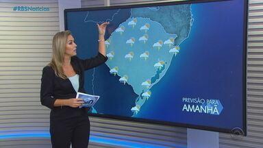 Previsão é de chuva em todo o RS nesta quinta (25) - Assista ao vídeo.