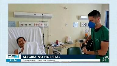 Profissionais da saúde levam alegrias a pacientes do Hospital Regional do Cariri - Confira mais notícias em g1.globo.com/ce