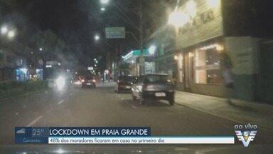 Cerca de 48% dos moradores de Praia Grande ficam em casa no primeiro dia de lockdown - Medidas restritivas permanecem até o dia 4 de abril na Baixada Santista.