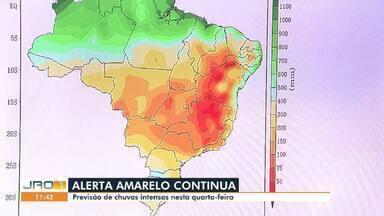 Conexão JRO1 - CBN: Alerta amarelo continua em Rondônia - Previsão é de chuvas intensas nesta quarta-feira.