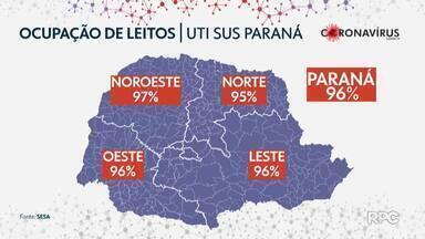 Ocupação de leitos de UTI no Paraná é crítica - Em todo o estado 941 pessoas aguardam uma vaga de leito COVID.