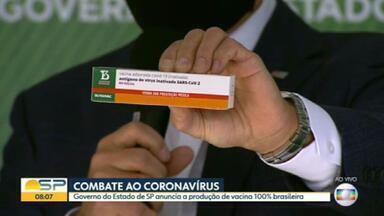 Butantan desenvolve candidata a vacina contra Covid, a 'Butanvac', e pedirá autorização para testes - Objetivo é ter 40 milhões de doses prontas até o fim de 2021.
