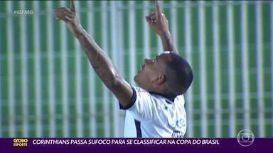 Otero, ex-Atlético, faz golaço de falta, mas Corinthians precisa dos pênaltis para avançar - Na Copa do Brasil, Timão passa pelo Retrô após empate no tempo normal