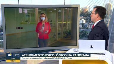 Atendimentos psicológicos no HC de Ribeirão Preto dobram na pandemia - Pandemia também gera doenças psicológicas na população.