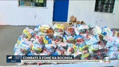 Projeto social leva ajuda a quem mais precisa, na Rocinha - Campanha de combate à fome pretende doar cestas básicas para moradores da comunidade.