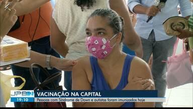 Pessoas com Síndrome de Down e Autismo são imunizadas nesta quinta-feira, em João Pessoa - Nesta sexta-feira (2) não haverá vacinação na capital.