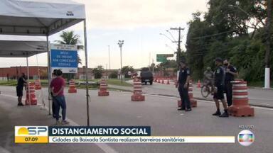 Cidades da Baixada Santista montam barreiras sanitárias - Temor é que turistas desçam para o litoral durante o feriado de Páscoa.