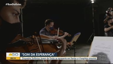 Orquestra se apresenta em frente a hospitais em Goiânia - Músicos devem fazer do sábado dia especial para muitos pacientes e profissionais de saúde.
