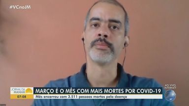 Covid-19: pesquisador fala sobre abertura do comércio não essencial na Bahia - Professor falou também que mês de março é considerado o pior mês desde o início da pandemia em todo o país.