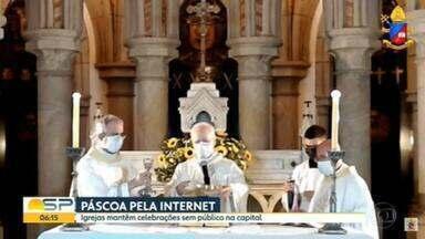 Arquidiocese de São Paulo decide manter missas sem público na Páscoa - Mesmo depois da liberação do STF, igreja católica decidiu manter os fiéis em casa.